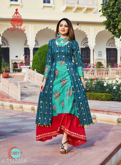 Kajal Designer Lawn Cotton And Rayon Printed Kurti Buy Online Discount Womenwear