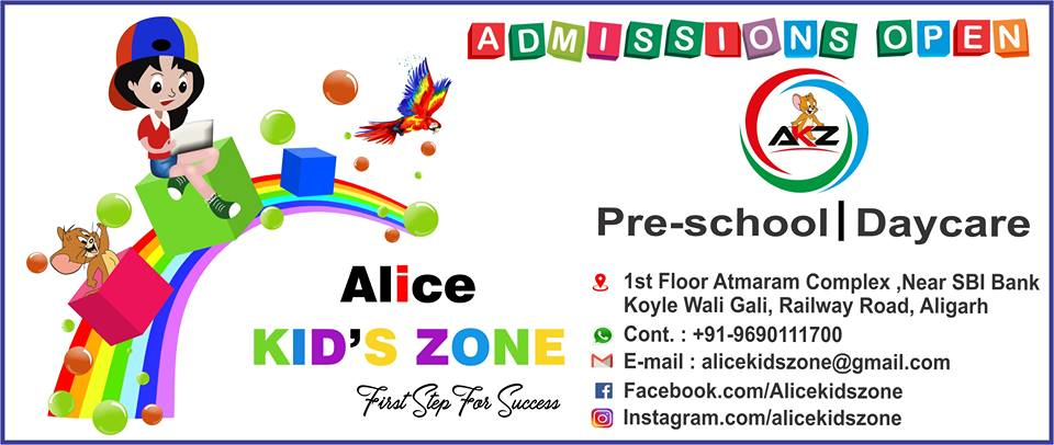 Alice Kids Zone Aligarh PreSchool Play School Kindergarten Railway Road Aligarh